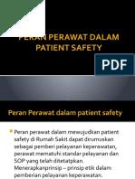 PERAN PERAWAT DALAM PATIENT SAFETY