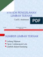 Minggu IV - Sistem Pengolahan Limbah Peternakan (Prof. Yuni)