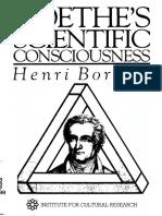 Henri Bortoft - Goethe's Scientific Consciousness-The Institute for Cultural Research (1998)