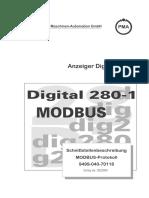PMA DIG280 1 Schnittstellenbeschreibung Modbus Deutsch 9499 040 70118