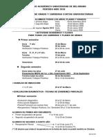 Calendario Academico Universidad de Belgrano 2020