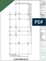 1 Column centerline plan
