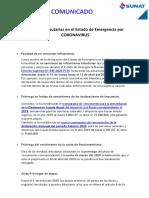 Medidas Tributarias en El Estado de Emergencia Por COVID 19 -- 27-03