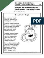 OXÍTONAS, PAROXÍTONAS, PROPAROXÍTONAS