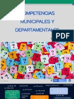 Competencias Municipales y Departamentales