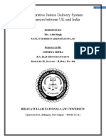 Administrative justice delivery system comparison between uk and india