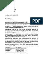 THE COVID-19 EMERGENCY RESPONSE FUND