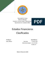 Estados Financieros clasificados