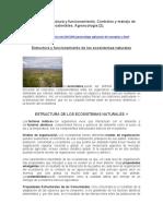Ecosistemas, estructura y funcionamiento. Controles y manejo de agroecosistemas sostenibles. Agroecología (2).