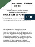 TAXONOMÍA DE VERBOS   -   BENJAMIN BLOOM