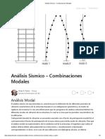 Análisis Sísmico – Combinaciones Modales