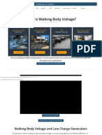 What is Walking Body Voltage  Staticworx® Knowledge Base