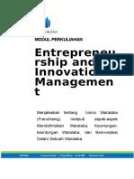 Modul Entrepreneurship and Innovation Management [TM3.B]