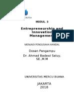 Modul Entrepreneurship and Innovation Management [TM3]