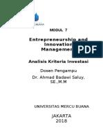 Modul Entrepreneurship and Innovation Management [TM7]