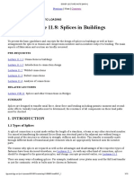 Splice Design in Buildings