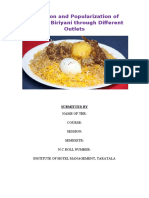 Evolution and Popularization of Calcutta Biryani Through Different Outlets.docx