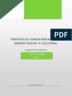 Conocimiento del medio social y cultural.