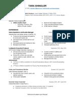 tara shingler resume