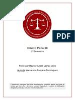 DIREITO PENAL III ESPECIAL-EXAME 2ºSEMESTRE