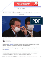 'De saco cheio de Mandetta', Bolsonaro estuda demiti-lo a qualquer momento - Blog do Tales Faria - UOL