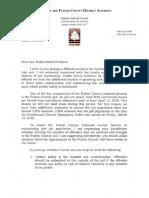 Fulton DA request to law enforcement agencies