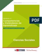 Modulo II Competencias y Estandres de Aprendizaje Ciencias Sociales