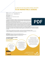 Assistente de marketing e vendas