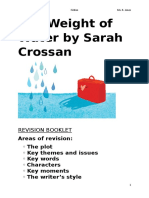 weight of water revision booklet