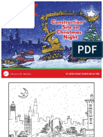 Construction Site on Christmas Night Activity Sheets