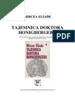Mircea Eliade - Tajemnica doktora Honigbergera