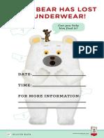 Polar Bear's Underwear Activity Kit