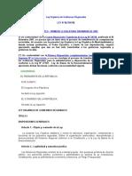 Ley 27867 - Ley Orgánica de Gobiernos Regionales