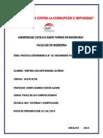 Práctica Experimental N° 05. Movimiento Parabolico. Física de los Cuerpos Rígidos. Ciclo 2019 - I-GRUPO A