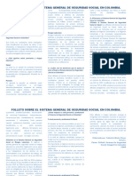 folleto de la seguridad social en colombia