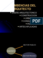 INCUMBENCIAS DEL ARQUITECTO.ppt