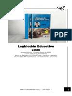 Vistazo  ---  LIBRO - LEGISLACIÓN EDUCATIVA - 2020  V Edición
