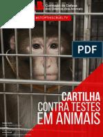 Cartilha Contra Testes Em Animais