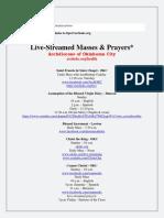 live-streamed masses3242020