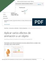 Aplicar varios efectos de animación a un objeto - PowerPoint