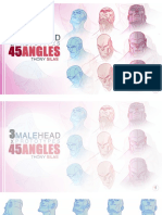 3 MALE HEAD - 45 ANGLES TEMPLATEBOOK by THONY SILAS