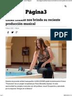 Lilian Lozano nos brinda su reciente producción musical - Página3