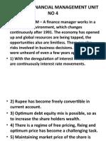 STRATEGIC FINANCIAL MANAGEMENT UNIT NO 4 & 5 LEXICON 2019