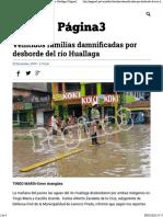 Veintidós familias damnificadas por desborde del río Huallaga - Página3