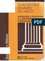 Gladstone Chaves de Melo - Iniciacao a Filologia e a Linguistica Portuguesa-Ao Livro Técnico.pdf
