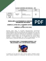 GUIA # 03 CIENCIAS SOCIALES 9°  AMERICA LATINA POLITICO ECONOMICO Y SOCIAL