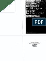343035187 Giampero Arciero Estudios y Dialogos Sobre La Identidad Personal Reflexiones Sobre La Experiencia Humana