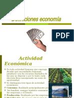 Definiciones economía