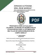 PROPUESTA PARA ACTUALIZAR Y CALIBRAR LOS MODELOS GEOMECANICOS 1D EXISTENTES PARA LA OPTIMIZACIÓN DEL FLUJO DE HIDROCARBUROS EN EL CAMPO SÁBALO