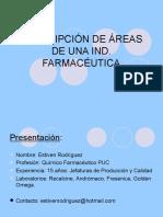 Charla 1, Descripción de Areas de Una Planta Farmacéutica